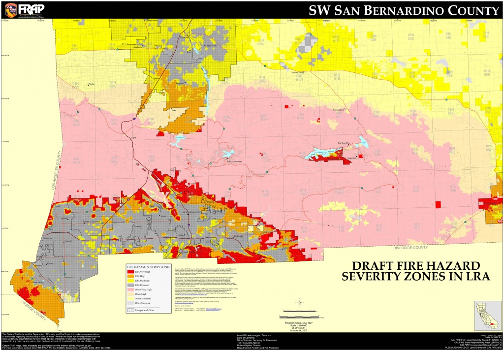 San Bernardino City Map And Travel Information | Download Free San - Map Of San Bernardino County California