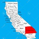San Bernardino County (California, United States Of America - Map Of San Bernardino County California