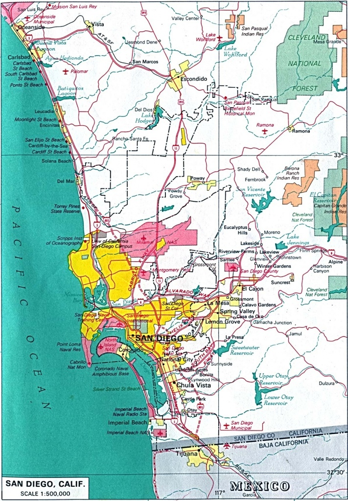 San Diego California City Map – Map Of Usa District - City Map Of San Diego California