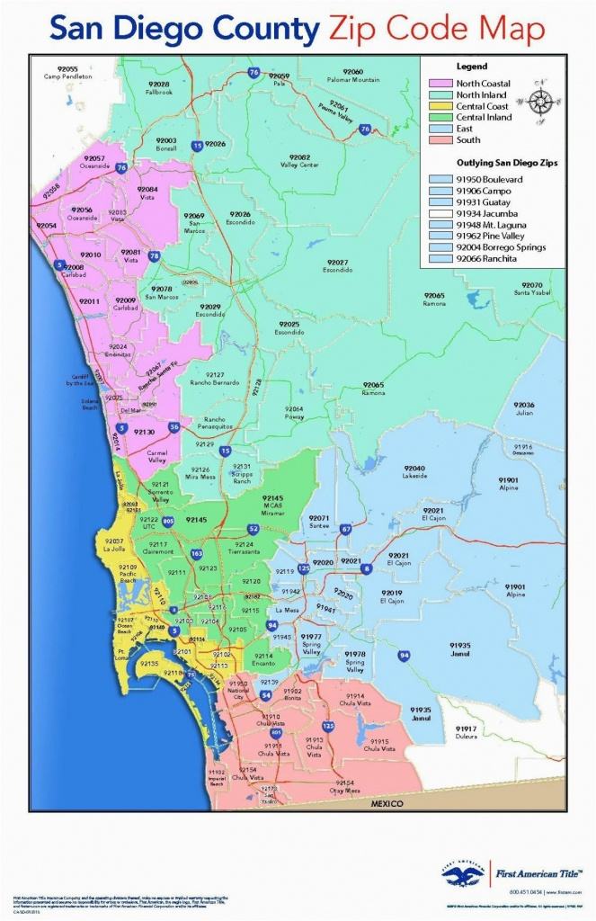 San Diego California Zip Code Map | Secretmuseum - California Zip Code Map