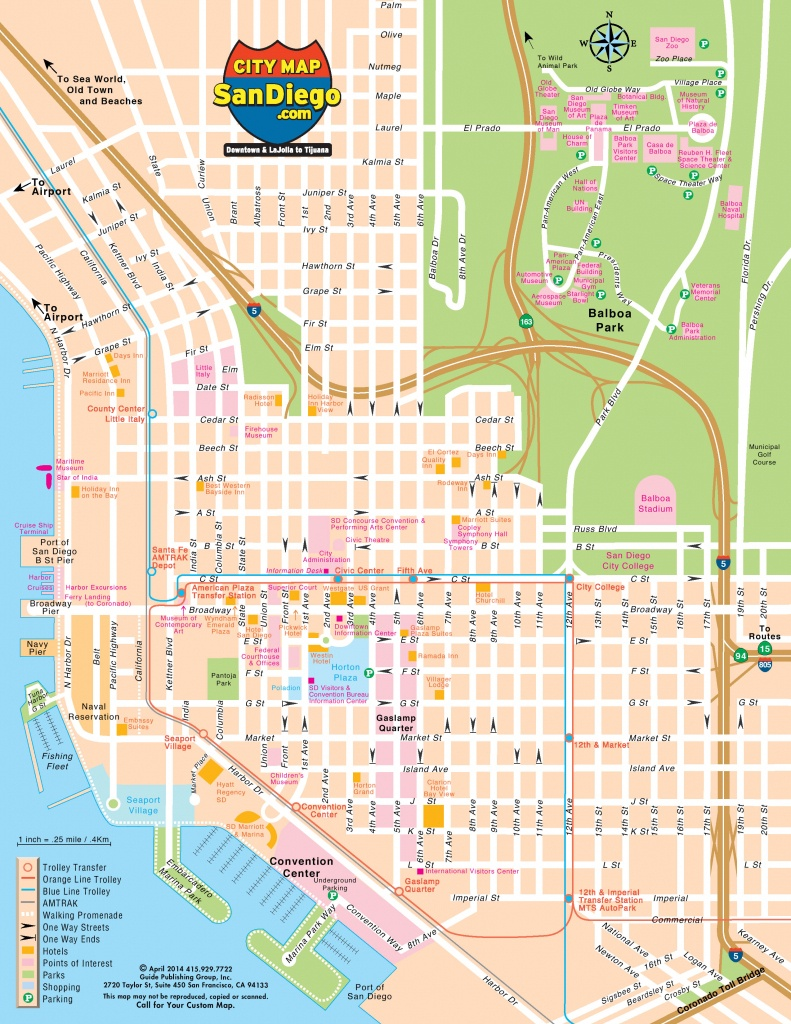 San Diego Map For Visitors - Printable Map Of San Diego