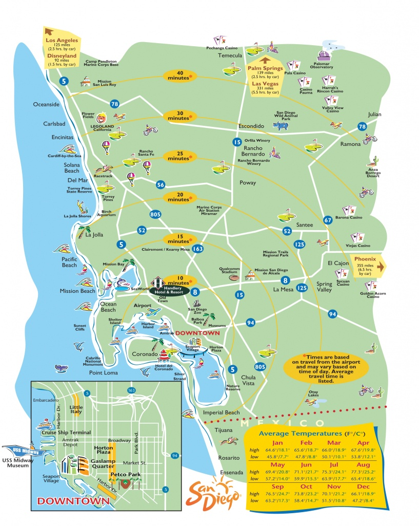 San Diego Maps And Zip Codes | World Map Photos And Images - San Diego Attractions Map Printable