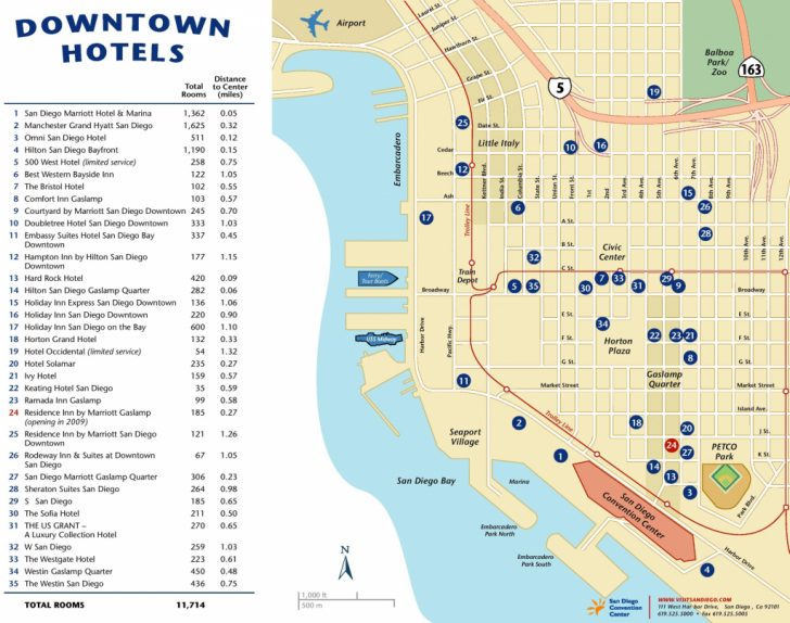 City Map Of San Diego California