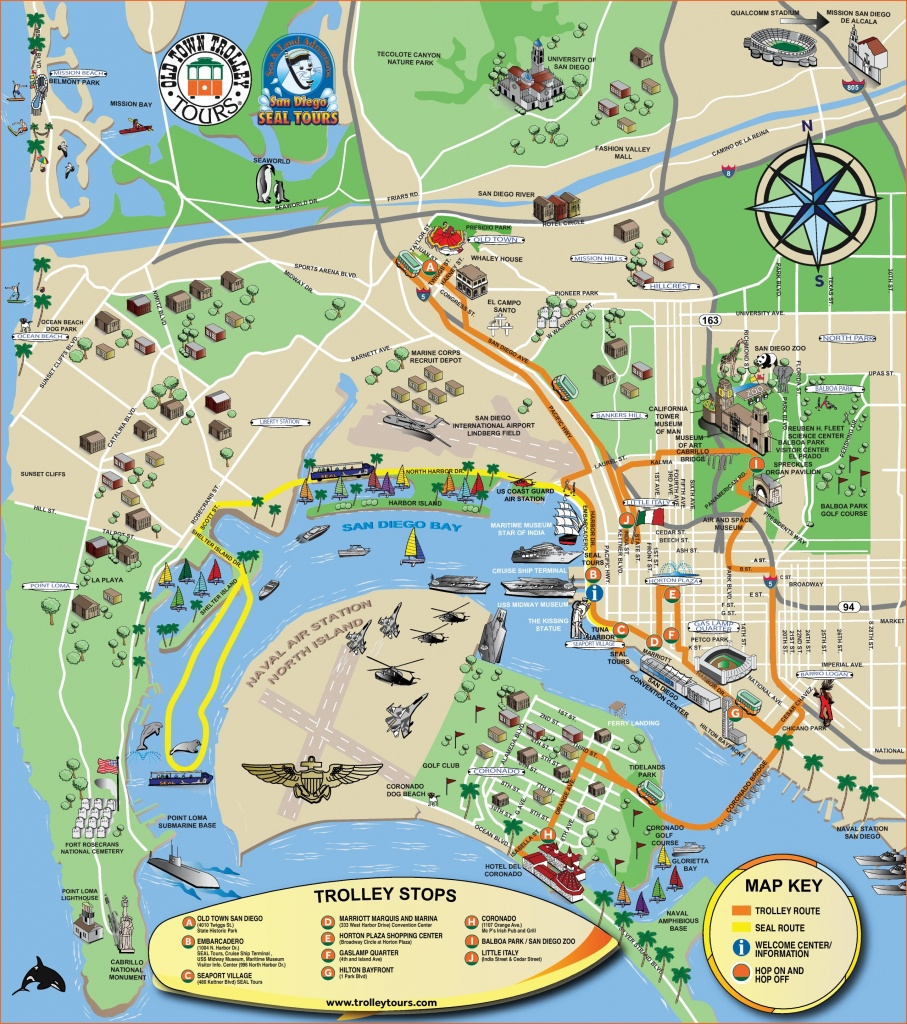 San Diego Maps | California, U.s. | Maps Of San Diego - Printable Map Of Downtown San Diego