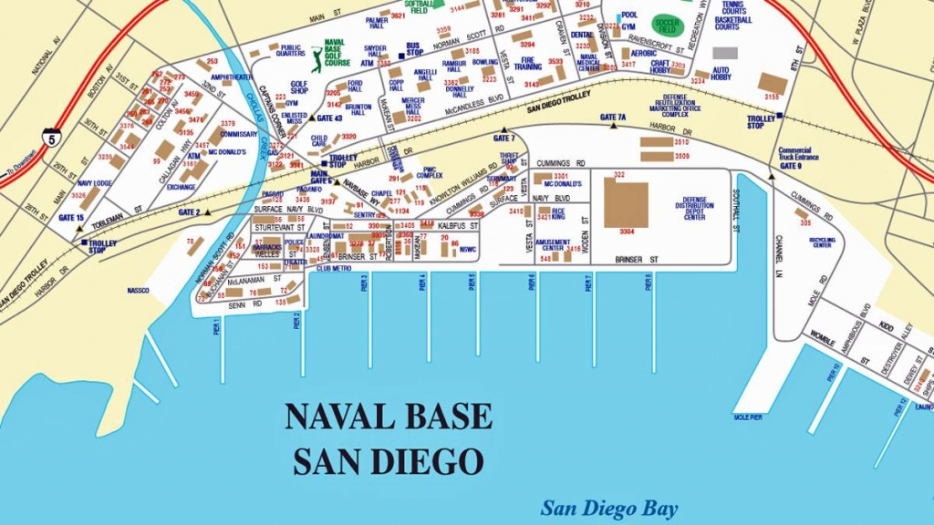 San Diego Naval Base Map - Naval Base San Diego Map (California - Usa) - Map Of Navy Bases In California