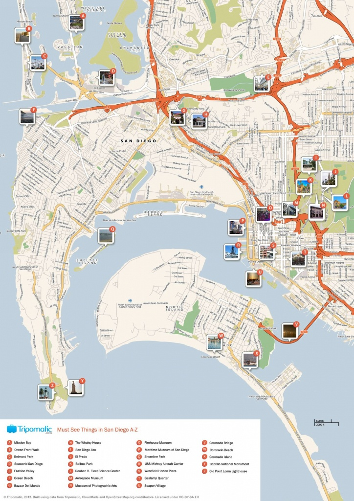 San Diego Printable Tourist Map | Favorite Places & Spaces | San - San Diego Attractions Map Printable