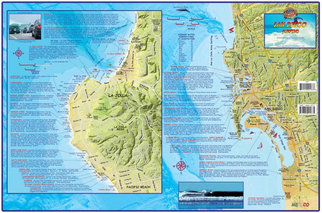 San Diego Surf Map - San Diego Surf Spots Map (California - Usa) - California Surf Map