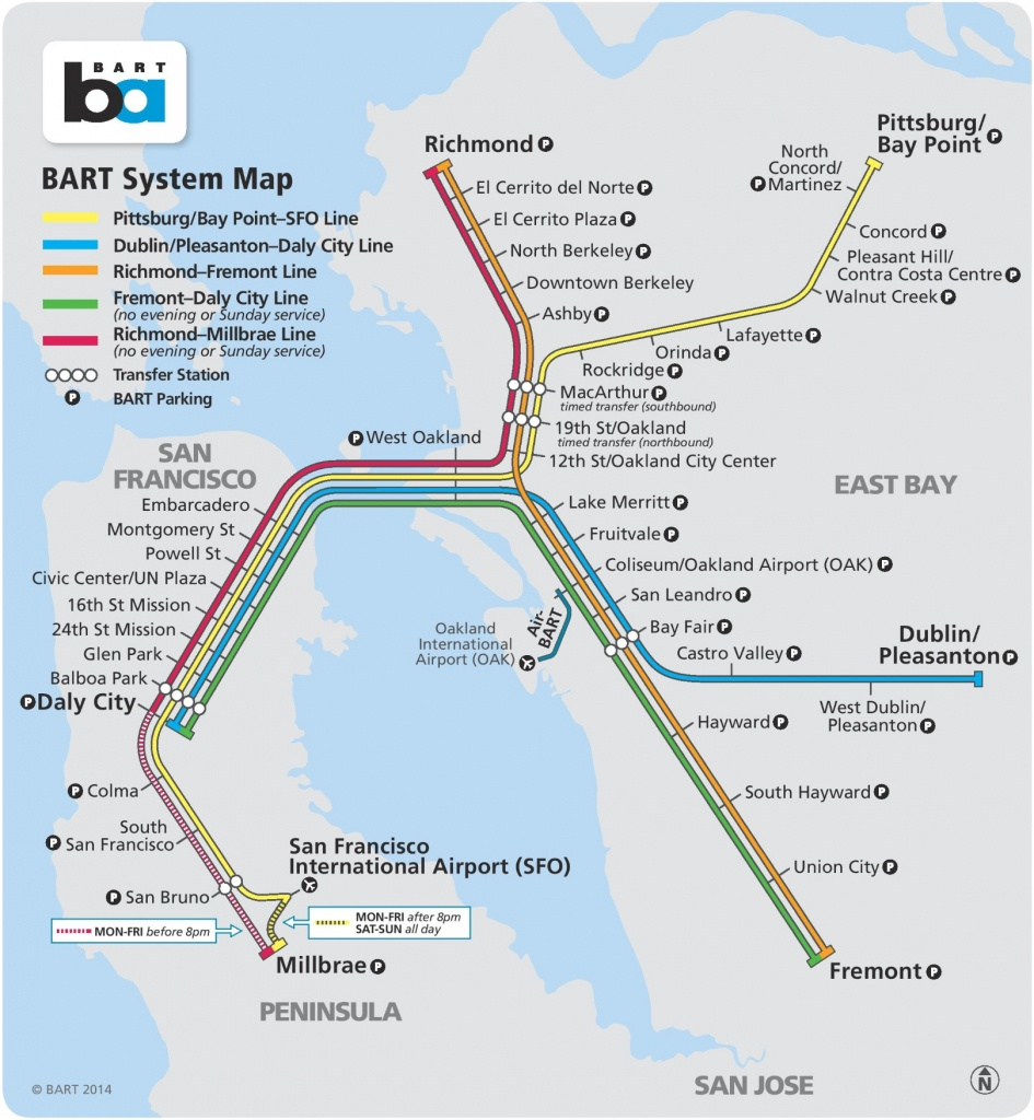 San Francisco Bart Map - Printable Bart Map