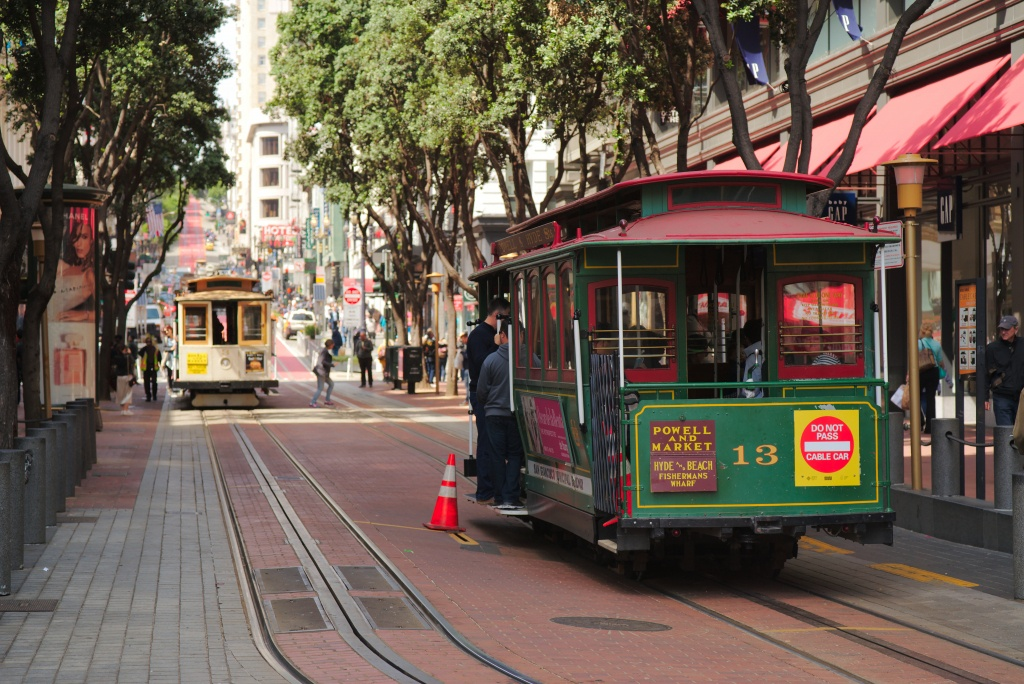 San Francisco Cable Car System - Wikipedia - Printable Map San Francisco Cable Car Routes