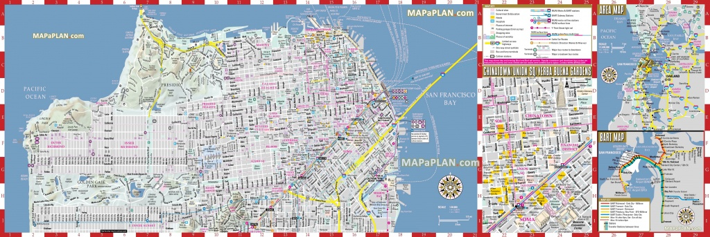 San Francisco Maps - Top Tourist Attractions - Free, Printable City - Printable Map Of San Francisco Streets