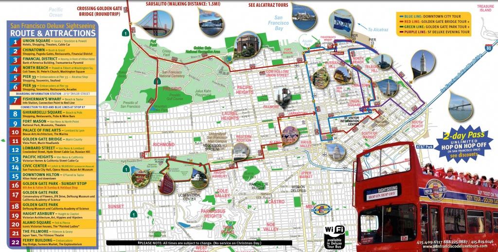 San Francisco Tourist Map Printable | Maps Update #21051488: San - Map Of San Francisco Attractions Printable
