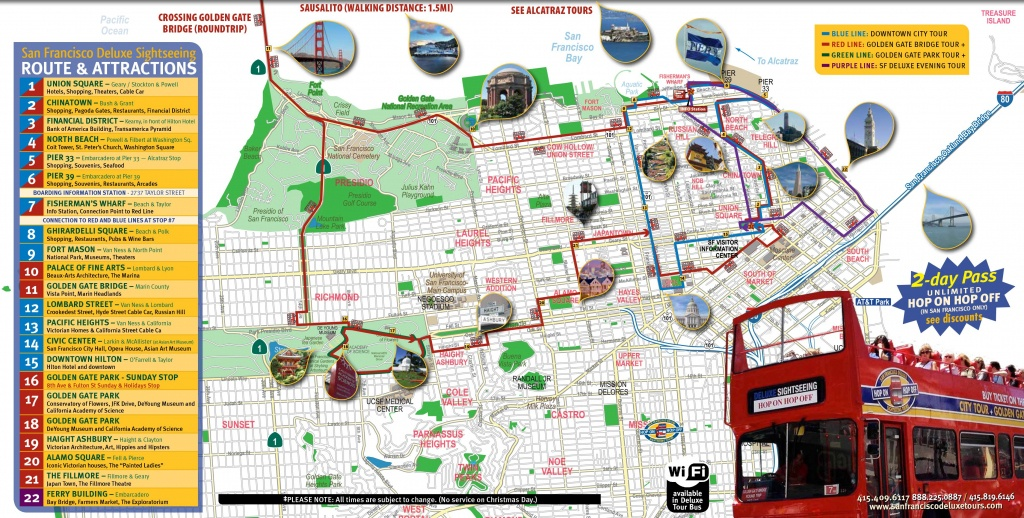 San Francisco Tourist Map Printable | Maps Update #21051488: San - San Francisco Tourist Map Printable