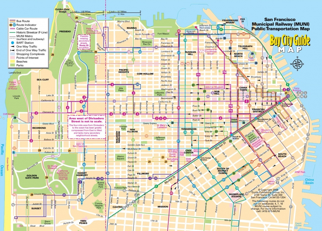 San Francisco Tourist Map - San Francisco City Map Printable