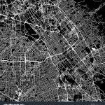 San Jose California Downtown Vector Map Image Vectorielle De Stock   Printable Map Of San Jose