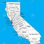 San Mateo County (California, United States Of America) Vector   San Mateo California Map