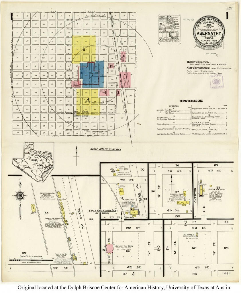 Sanborn Maps Of Texas - Perry-Castañeda Map Collection - Ut Library - Texas Fire Map