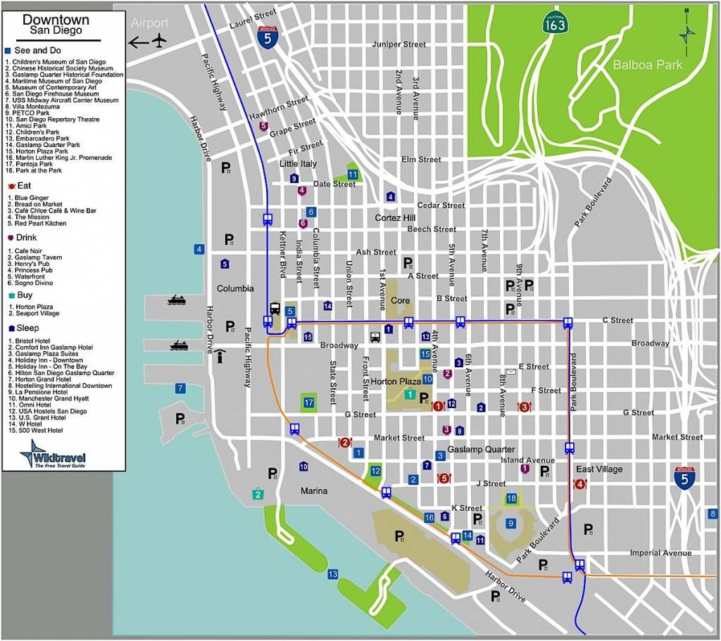Sandiego Map - Map Of Sandiego (California - Usa) - California Hostels Map