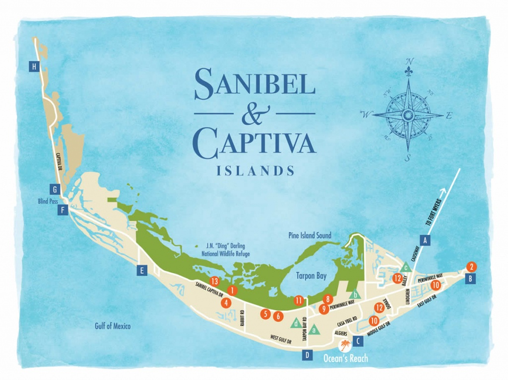 Sanibel Island Map To Guide You Around The Islands - Where Is Sanibel Island In Florida Map