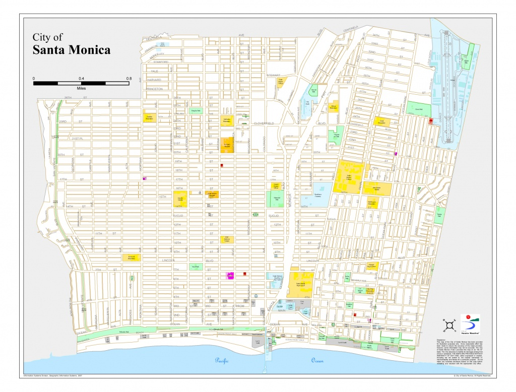 Santa Monica City Map - Santa Monica California • Mappery - Where Is Santa Monica California On A Map