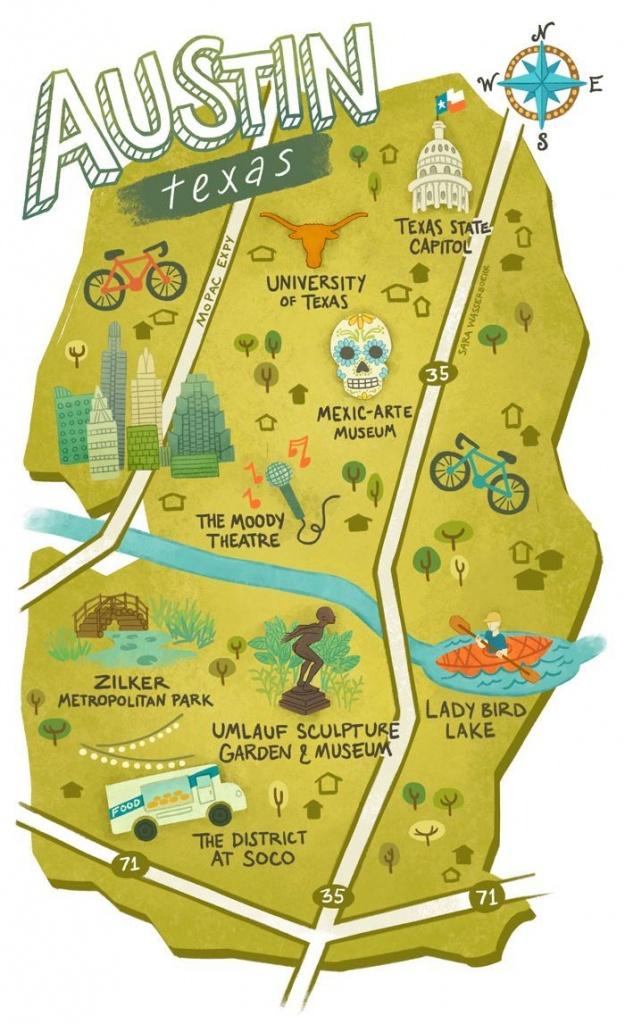 Sara Wasserboehr - Map Of Austin Texas   Wanna Go, Gotta Go! In 2019 - Travel Texas Map