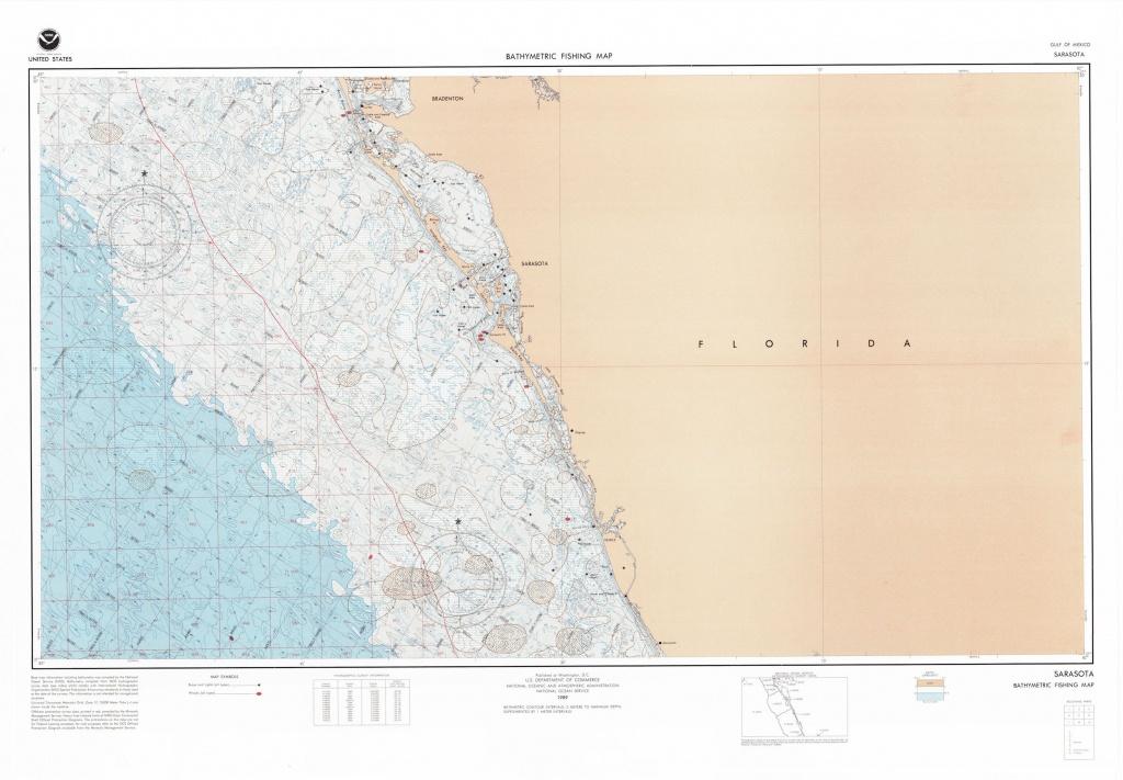 Sarasota Florida Bathymetric Fishing Map | Etsy - Sarasota Florida Map