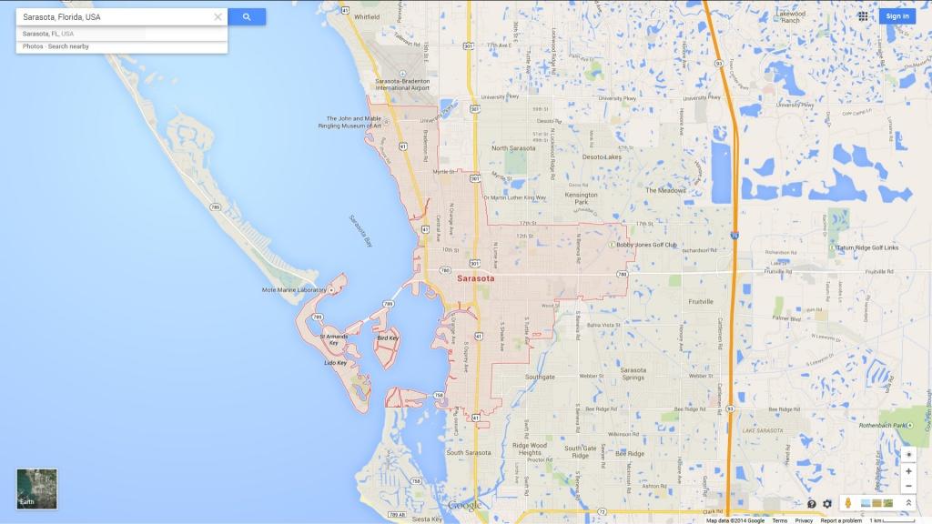 Sarasota Florida Map - Google Maps Sarasota Florida