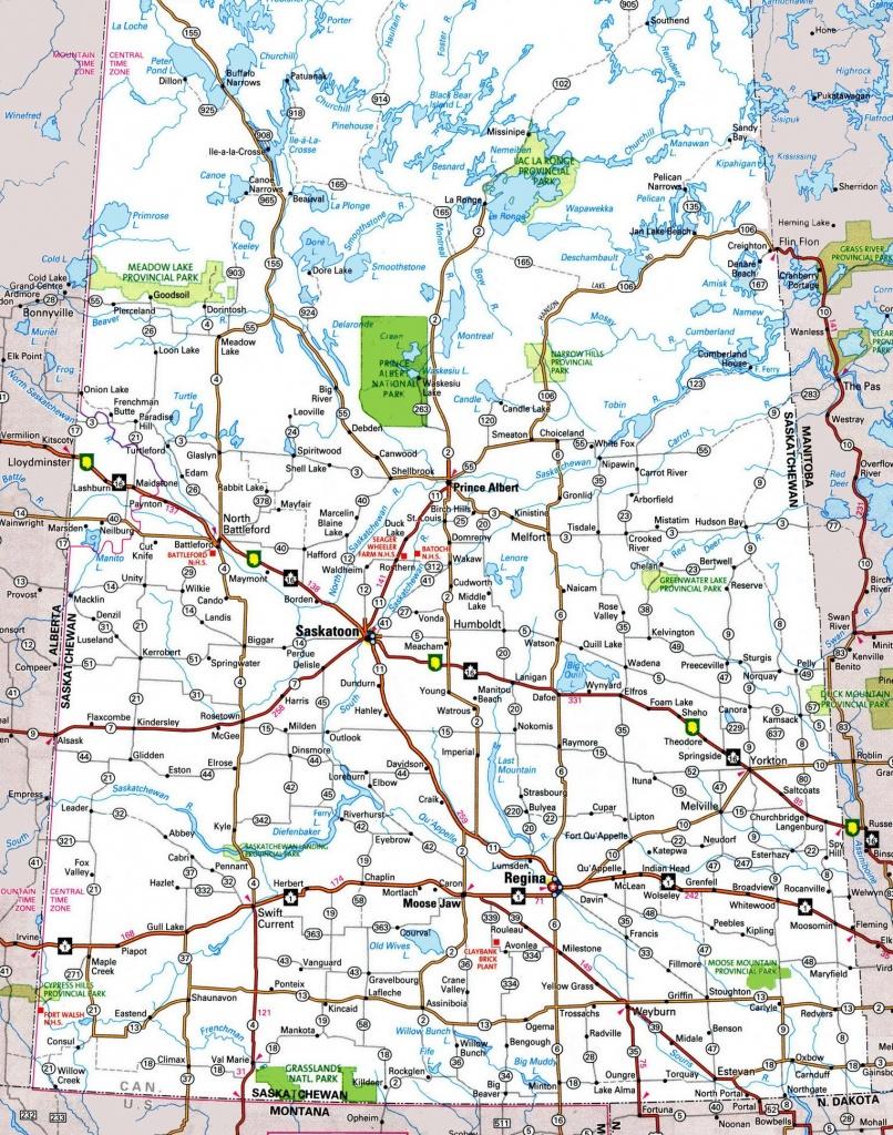 Saskatchewan Highway Map - Printable Alberta Road Map