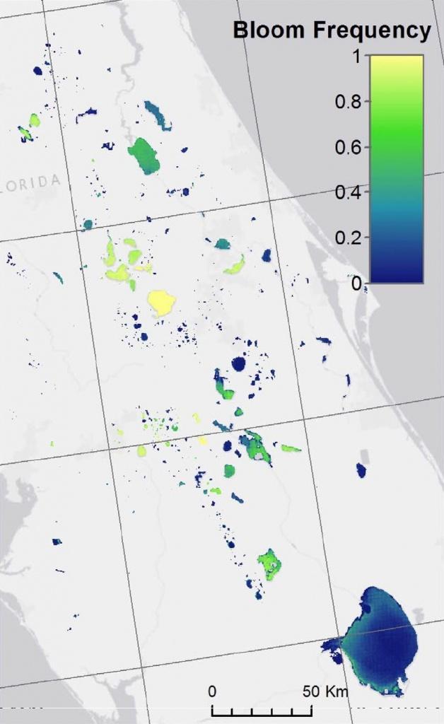 Satellite Imagery Used To Measure Algal Bloom Frequency—Steps Toward - Toxic Algae In Florida Map