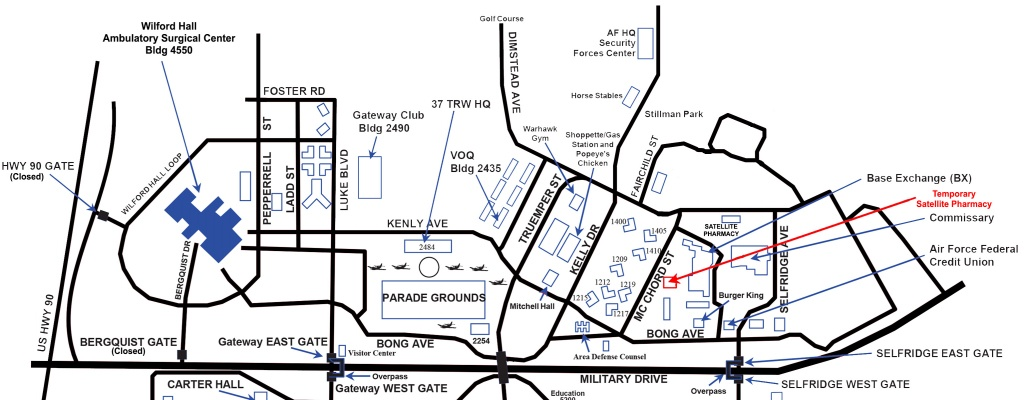 Satellite Pharmacy Temporarily Relocates; Renovation Project Gets - Lackland Texas Map
