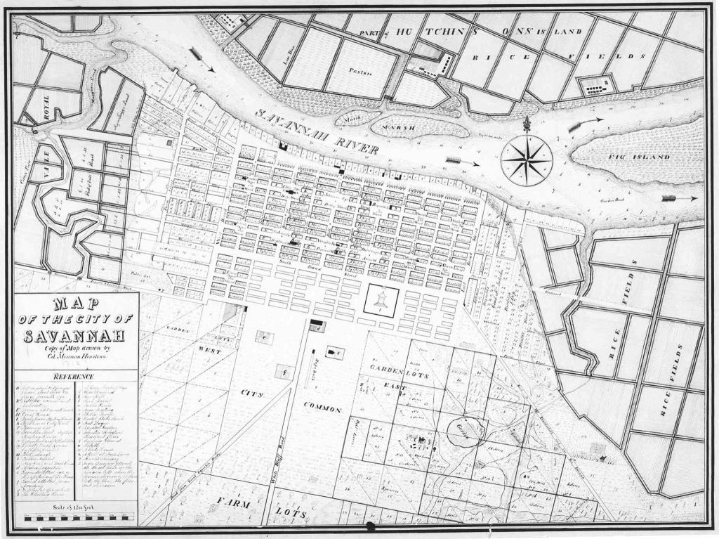 Savannah In Photos & Drawings: 1864-1908 – Georgia Globe Design News - Printable Map Of Savannah