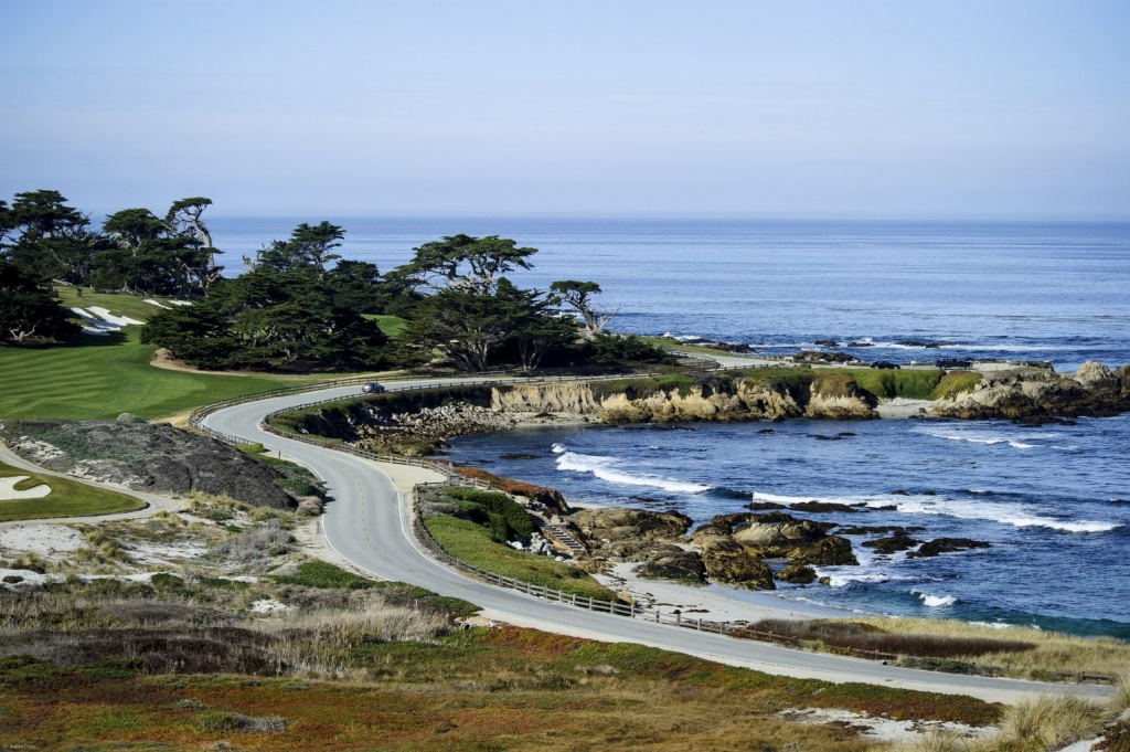 Scenic 17-Mile Drive In Picturesque Pebble Beach - 17 Mile Drive California Map
