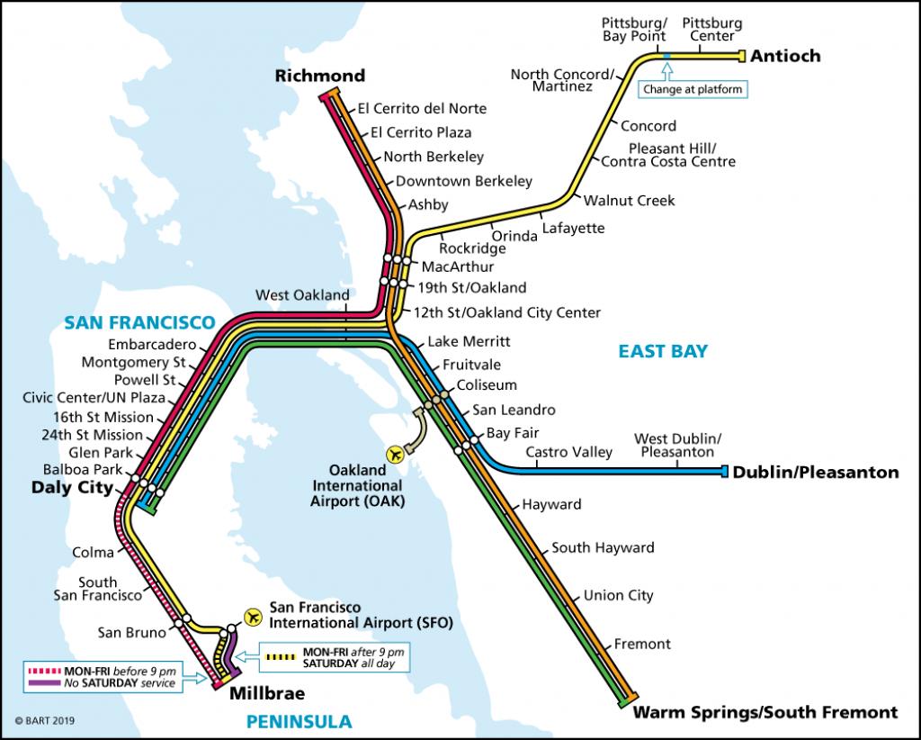 Schedules | Bart.gov - Map Of Dublin California Area