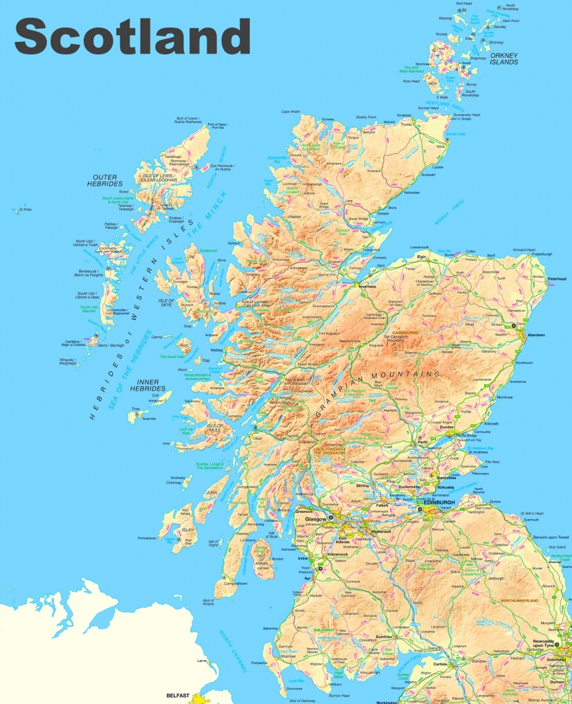 Scotland Road Map - Printable Map Of Scotland With Cities