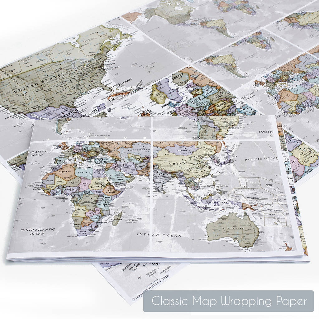 Scratch The World® Black Map Print With Coinmaps International - Printable Map Paper