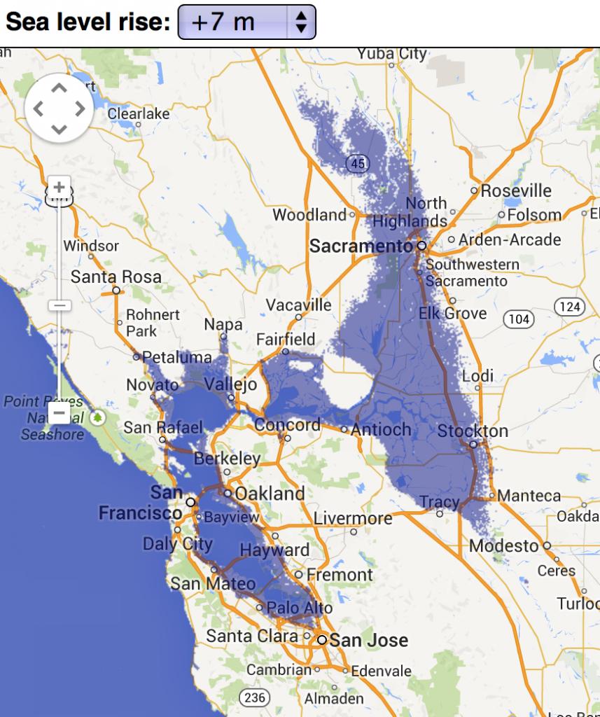Sea Level Rise Effects On Estonia [Gif] [660 X 466] : Mapporn - California Sea Level Rise Map