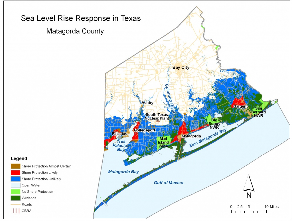 Sea Level Rise Planning Maps: Likelihood Of Shore Protection In Florida - Map Of Matagorda County Texas