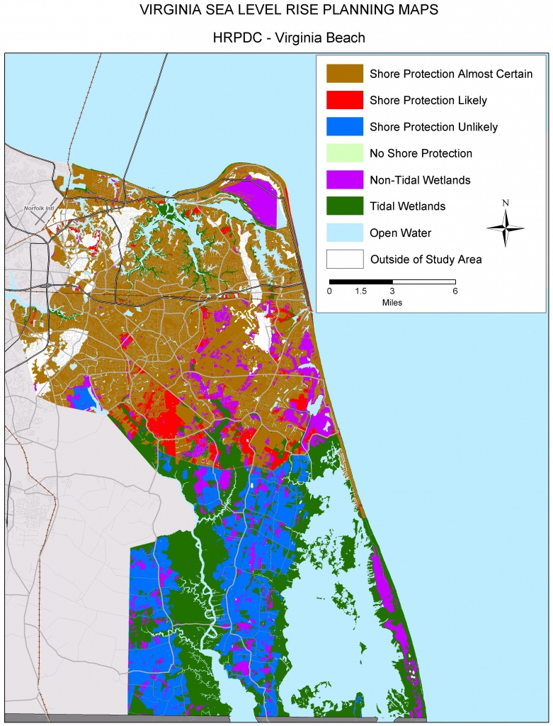 Sea Level Rise Planning Maps: Likelihood Of Shore Protection In Virginia - Florida Elevation Above Sea Level Map