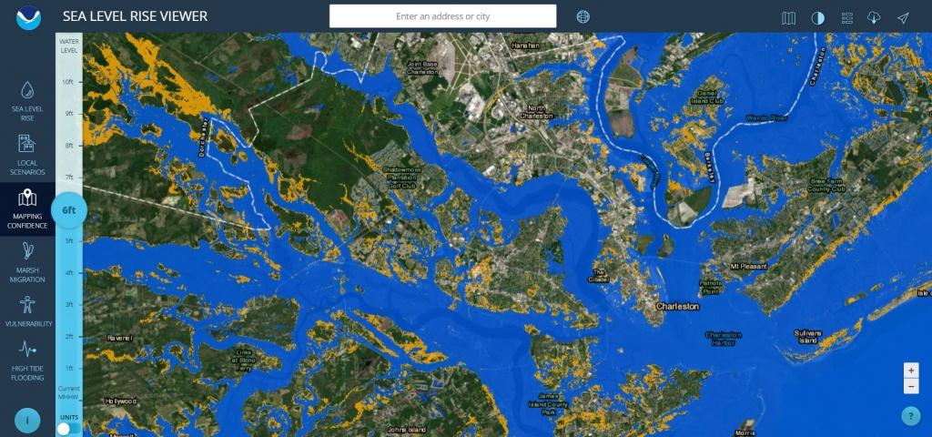 Sea Level Rise Viewer - California Sea Level Map