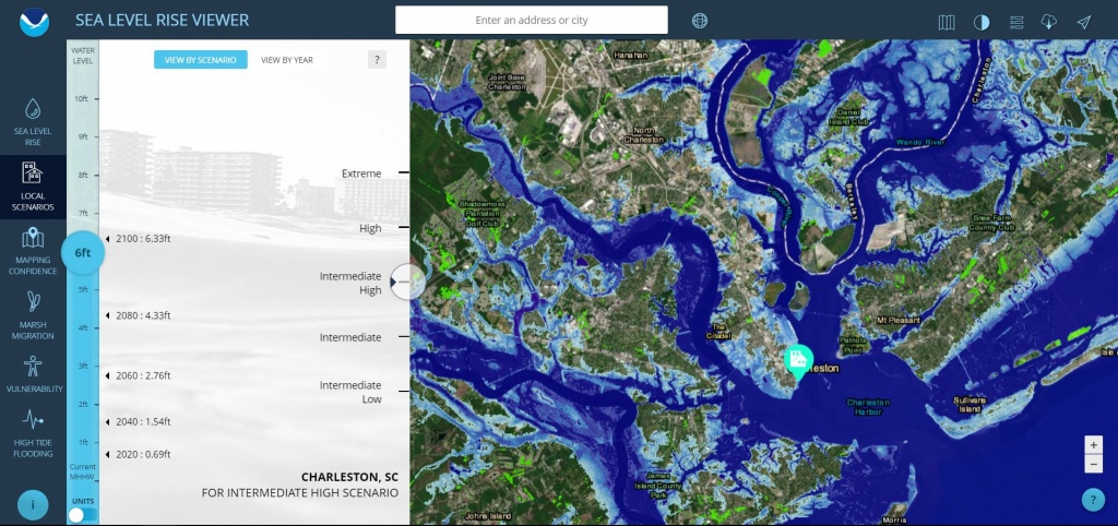 Sea Level Rise Viewer - Florida Global Warming Map