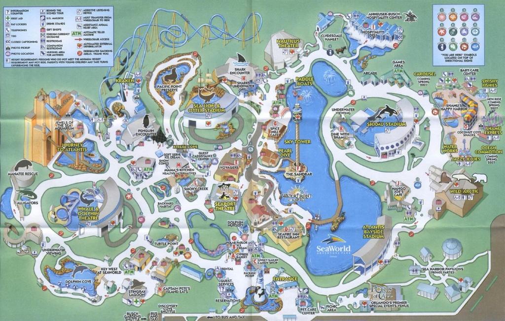 Sea World Orlando - Theme Park Brochures | Disney Vacation | World - Seaworld Orlando Map 2017 Printable