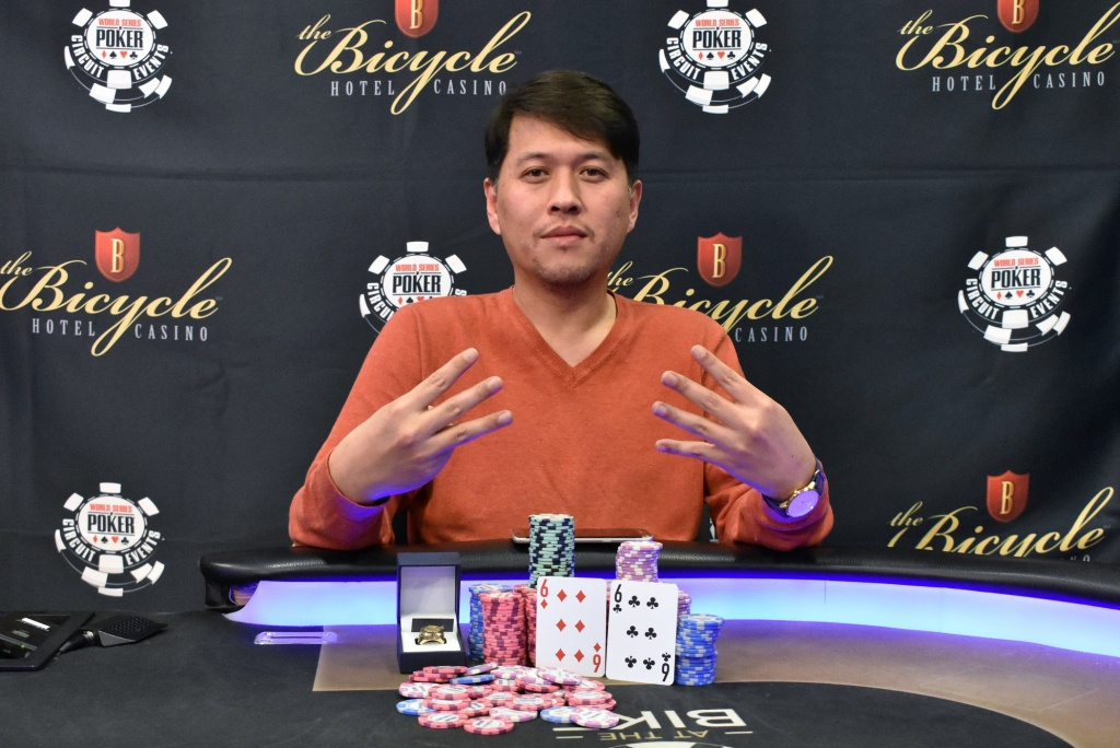 Sean Yu Wins Wsopc Bicycle For $210,585 And Ring No. 7   Pokernews - California Poker Rooms Map