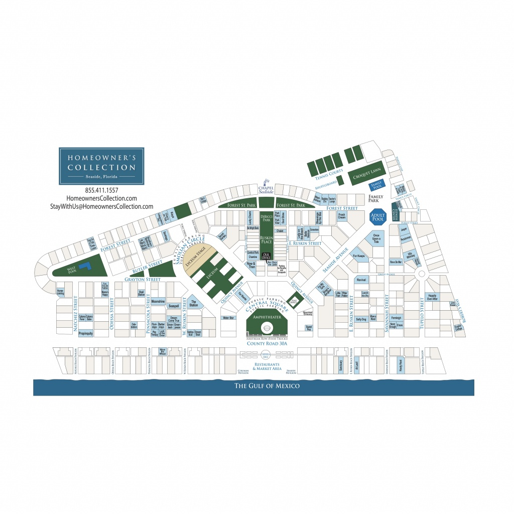 Seaside Florida Cottage Map - Seaside Florida Town Map