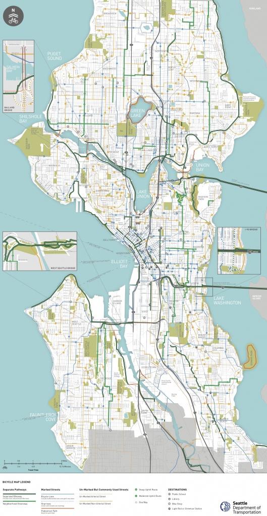 Seattle Map Pdf | Fysiotherapieamstelstreek - Printable Map Of Seattle Area