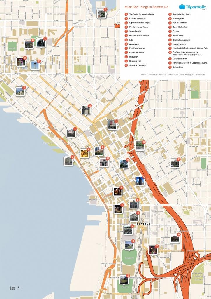 Seattle Printable Tourist Map   Free Tourist Maps ✈   Seattle - Printable Map Of Seattle