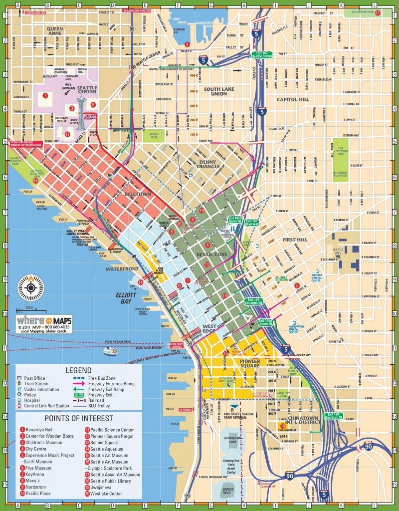 Seattle Tourist Map - Seattle Tourist Map Printable
