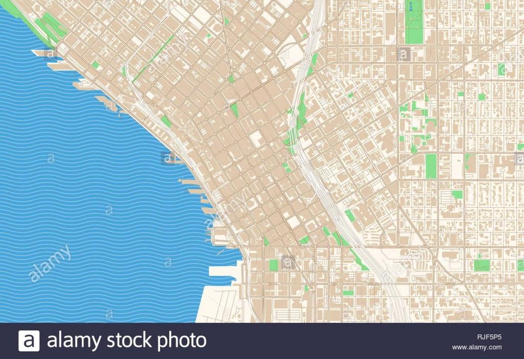 Seattle Washington Printable Map Excerpt. This Vector Streetmap Of - Printable Map Of Seattle Area
