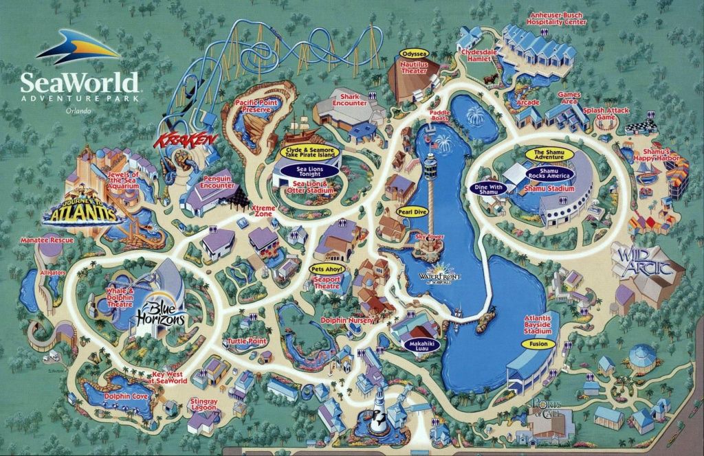 Seaworld Map Orlando - 7007 Sea Harbor Dr Orlando Fl • Mappery - Printable Sea World Map