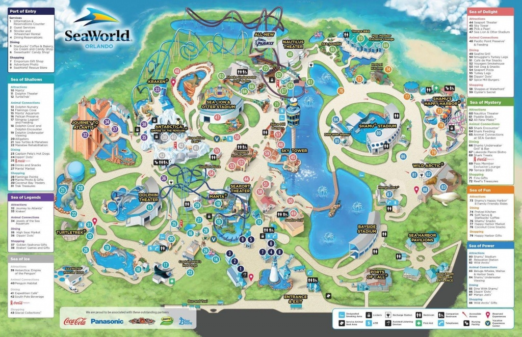 Seaworld Orlando Map - Map Of Seaworld (Florida - Usa) - Printable Map Of Sea World Orlando