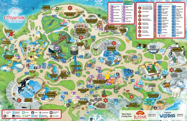 Seaworld San Diego Printable Map