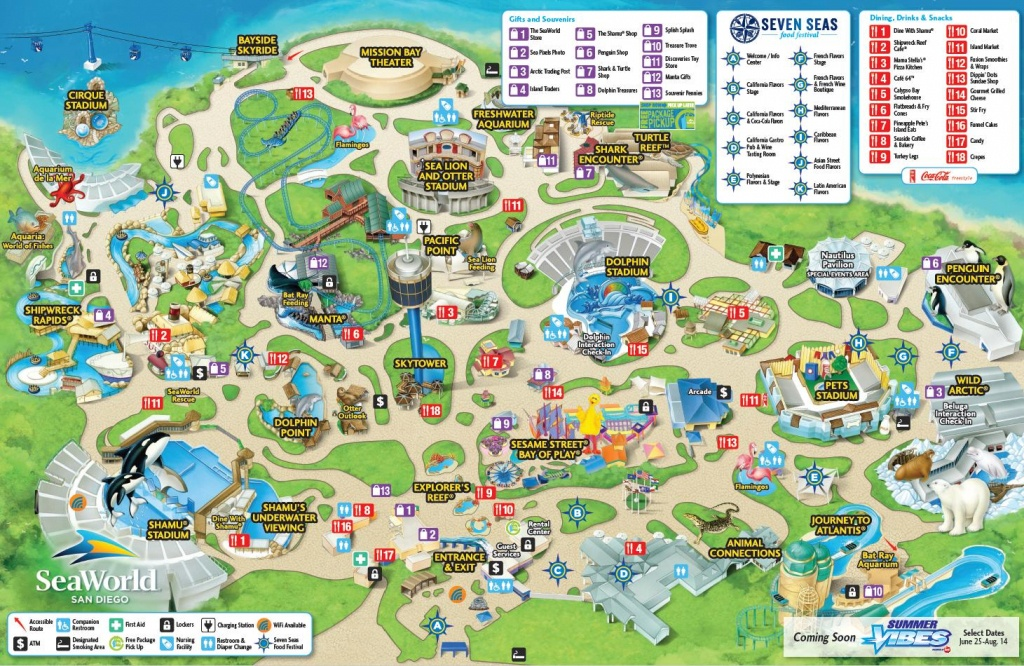Seaworld San Diego Map - Map Of Seaworld San Diego (California - Usa) - Printable Sea World Map